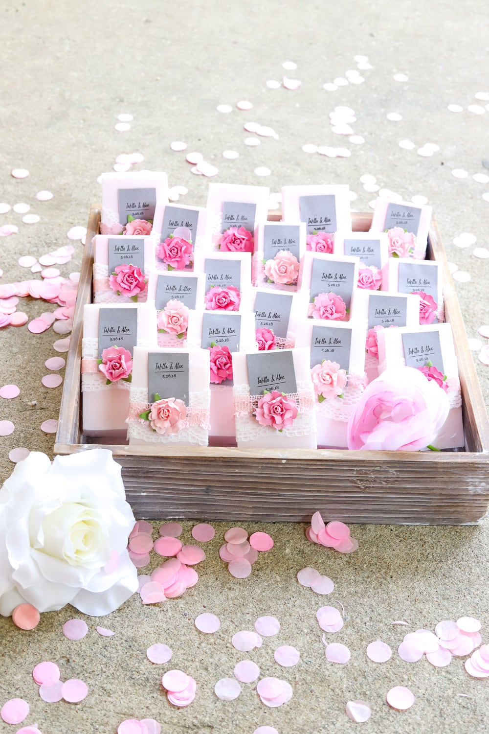 Easy DIY Wedding Favor: Personalized Soap - Run To Radiance
