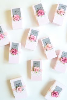 Easy DIY Wedding Favor: Personalized Soap