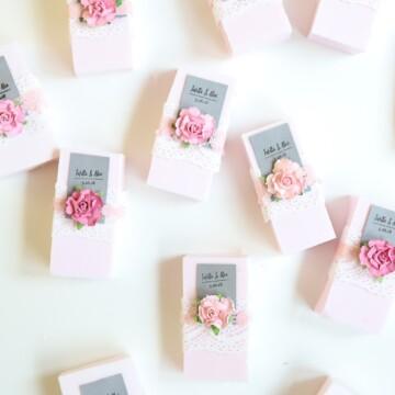 group of diy wedding favor soap