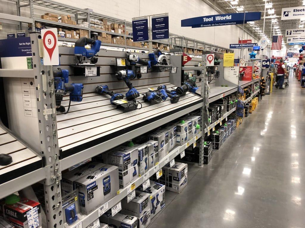 kobalt tools at Lowe's on shelf