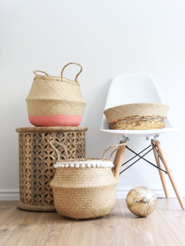 3 different ways to make over the ikea wicker basket