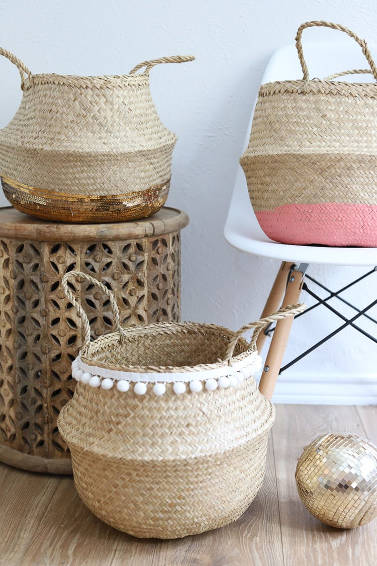 3 ikea wicker baskets
