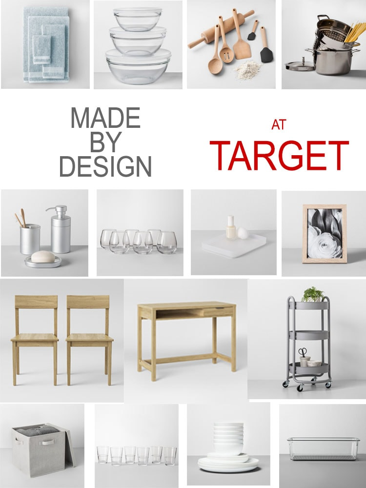 collage of items found at target in the made by design collection
