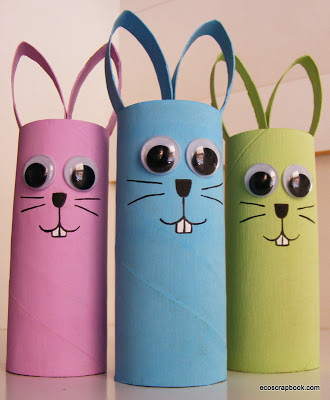 Toilet paper roll bunnies for toddlers to make