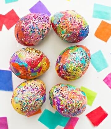 glitter easter eggs diy