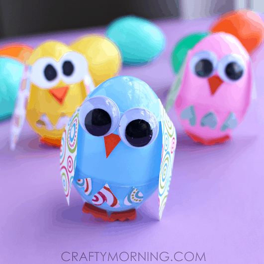 chick easter eggs for preschooler crafts