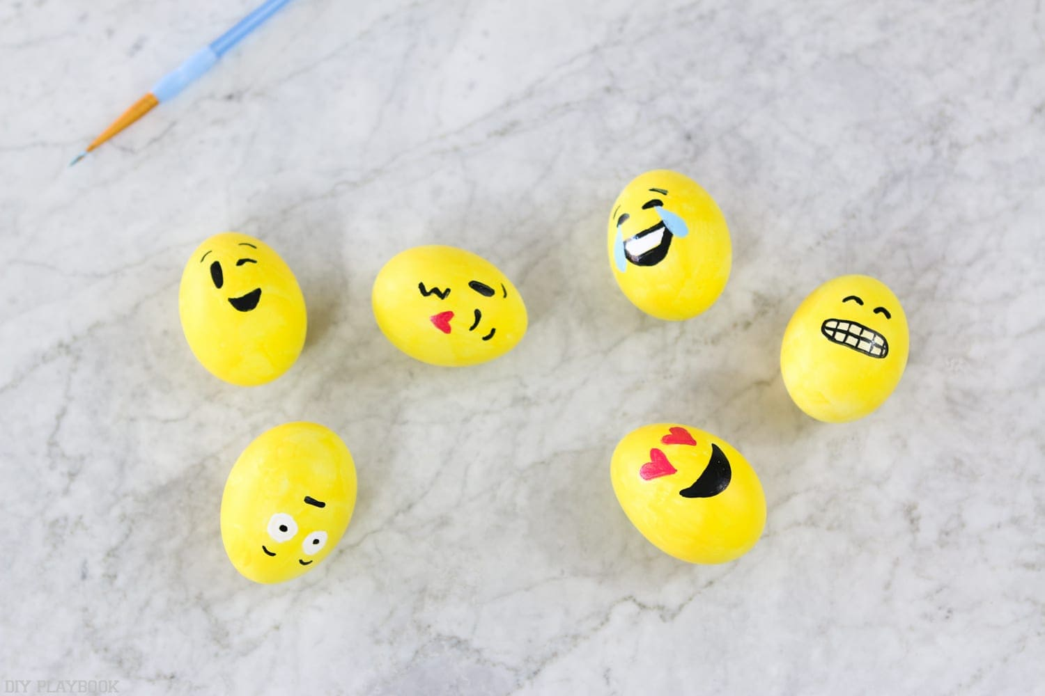 Emoji easter eggs toddler craft
