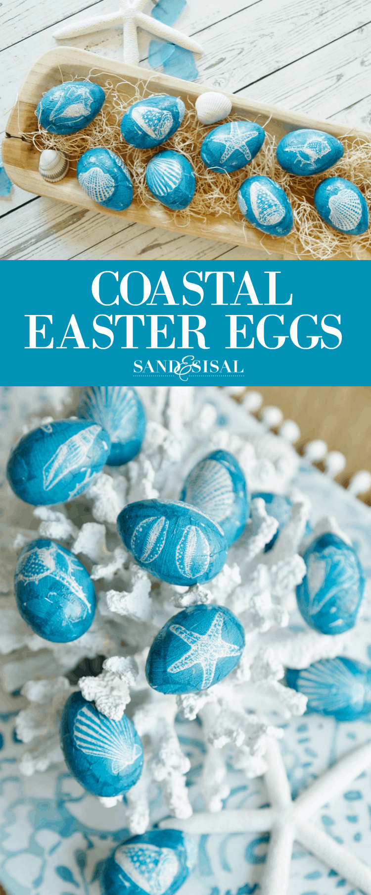 Costal Easter eggs