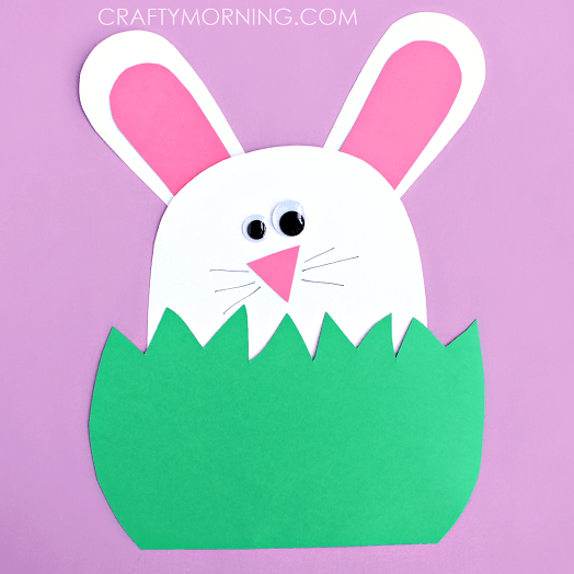 Fun Easter craft for toddlers made with paper