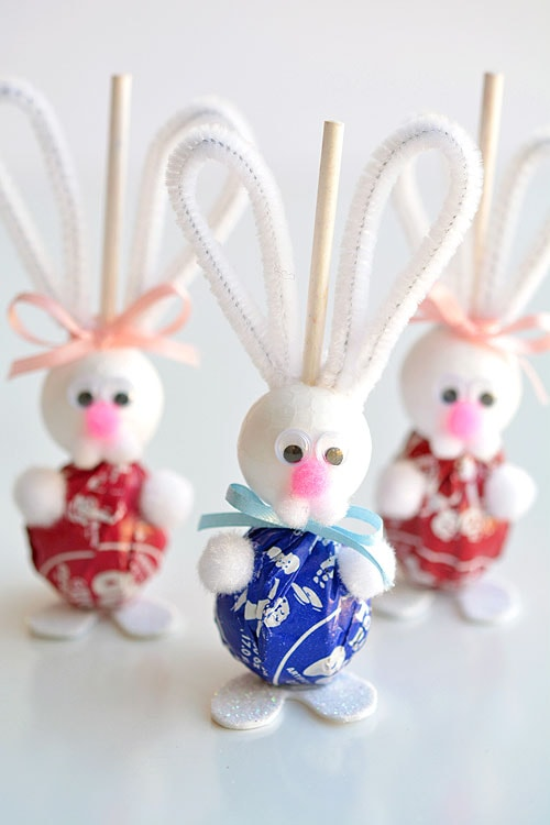 cute easter bunny lollipops for toddlers