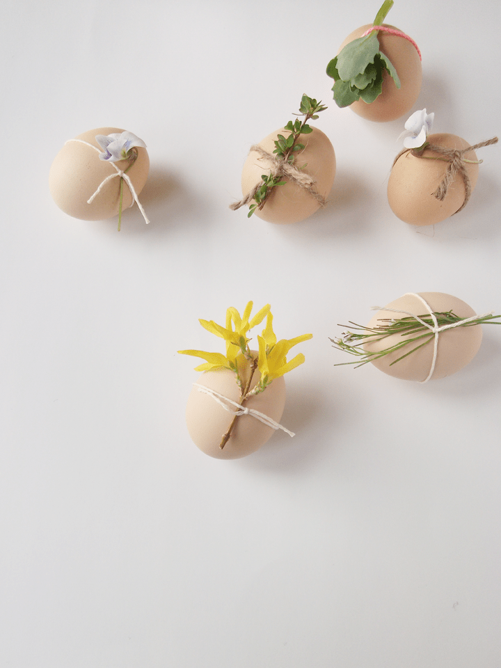 Minimalist Decorated easter eggs