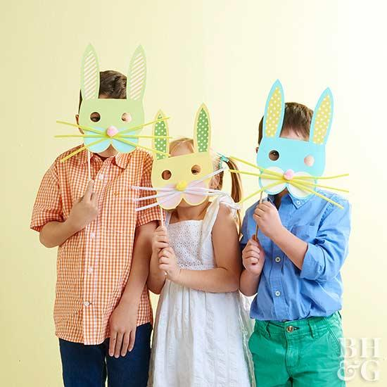 cute DIY easter bunny masks
