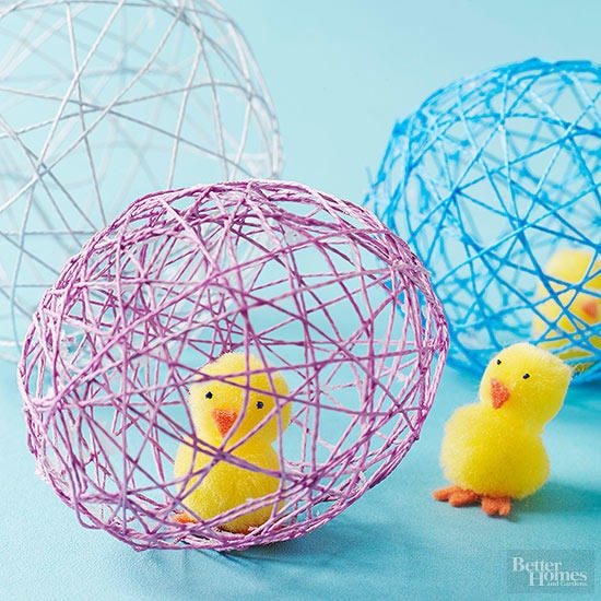 diy paper mache eggs for preschool craft