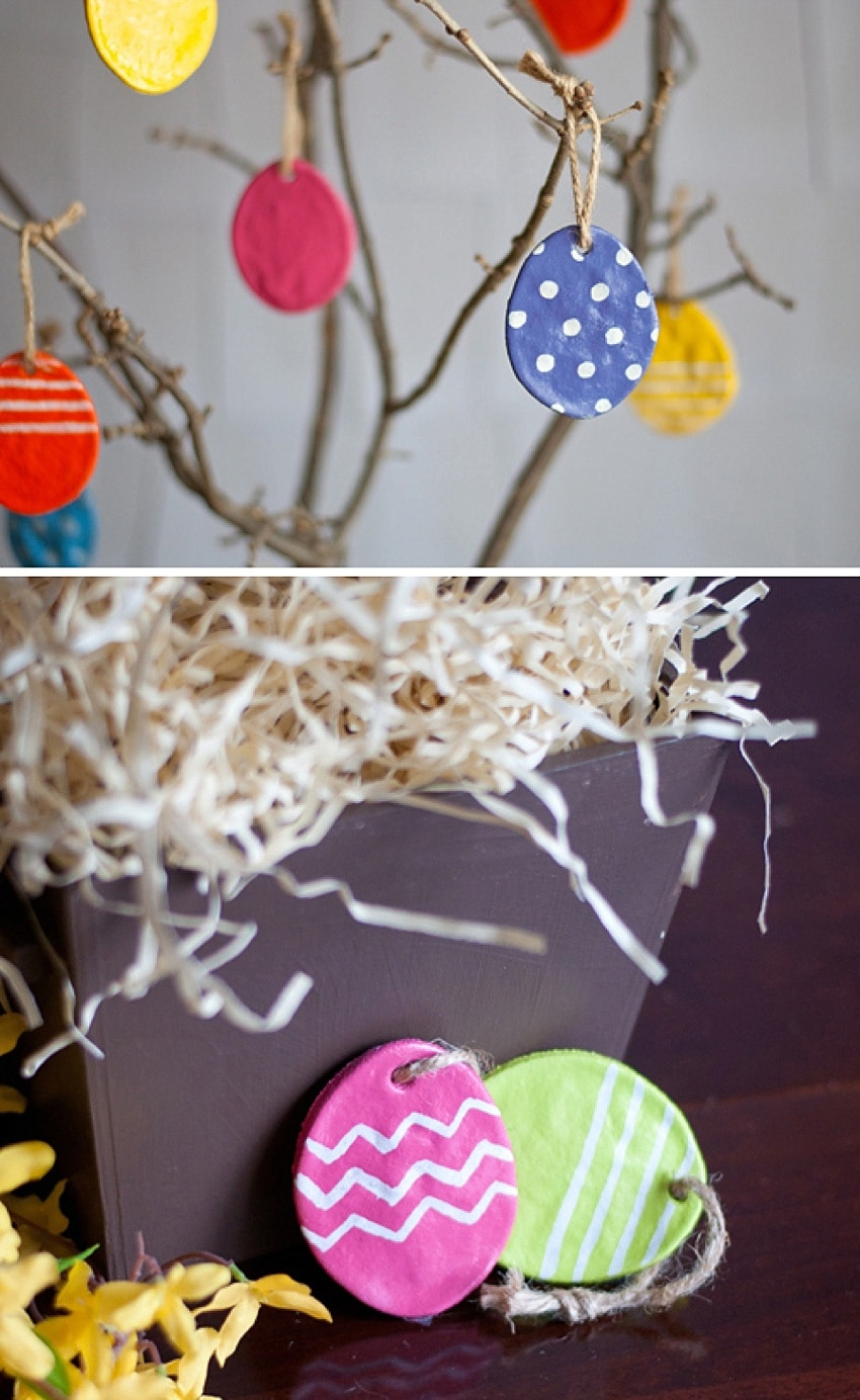 DIY Easter egg trees for kids