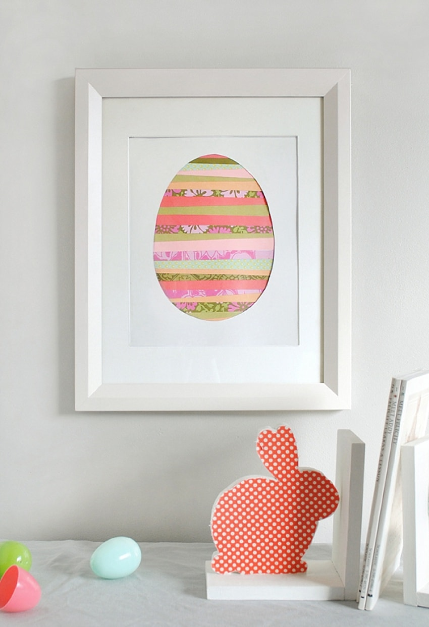 Washi tape egg - cute