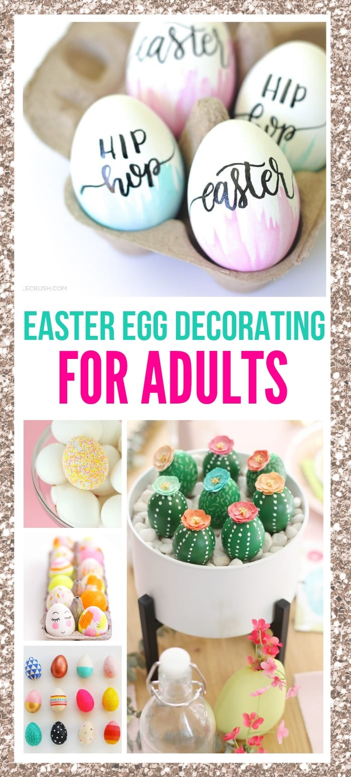 Easter egg decorations and Easter egg designs for adults