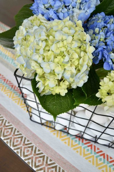 DIY floral Easter egg centerpiece