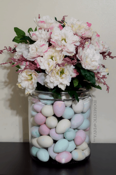 Easter egg and floral centerpiece