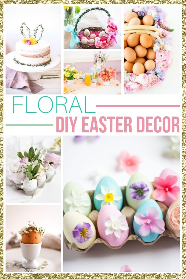 Easter decorations and easter decor ideas using flowers!