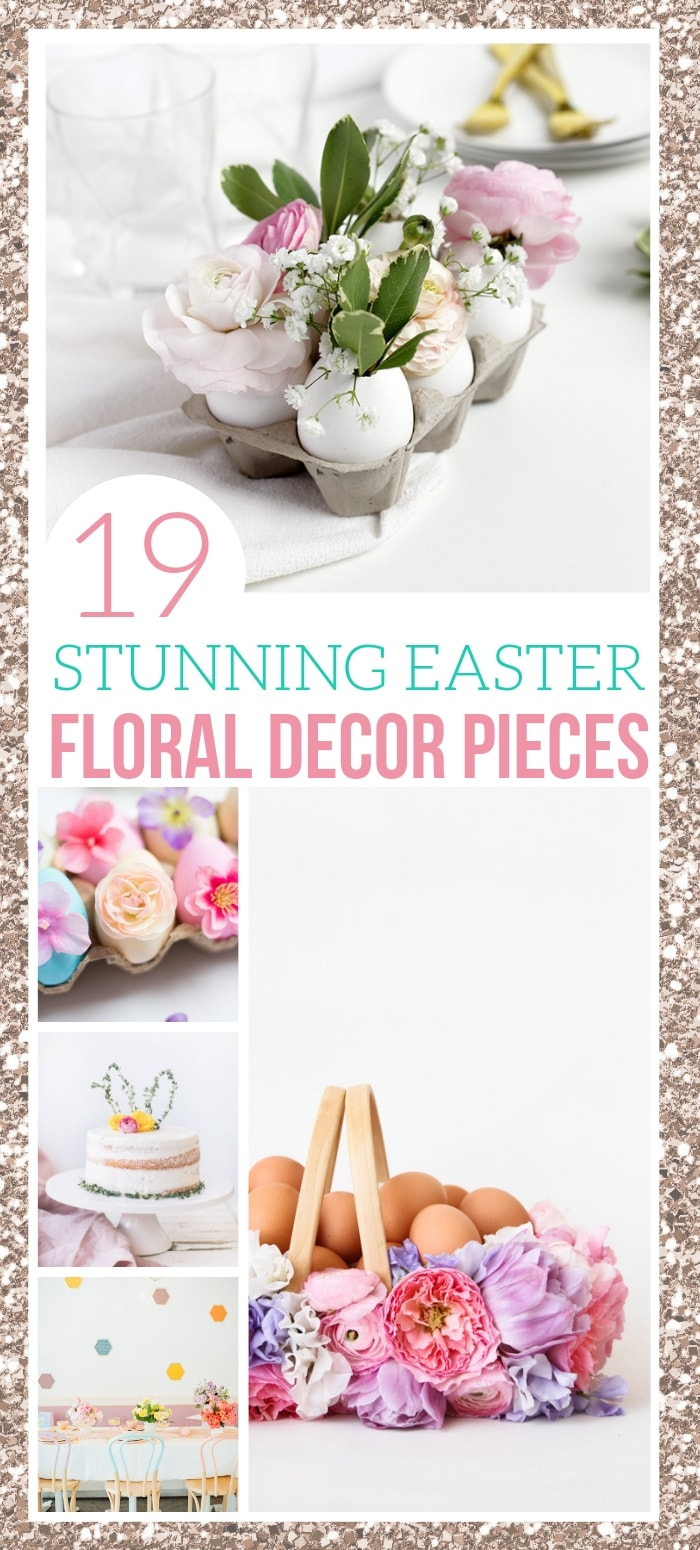 How to use flowers to decorate for easter table