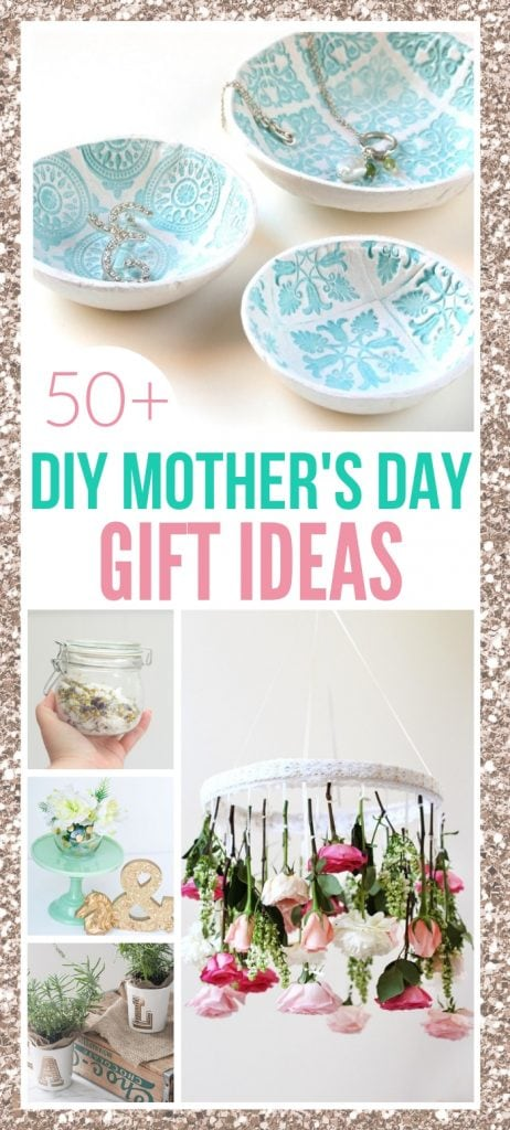 51 easy diy mothers day gifts that mom will love like candles and jewerly