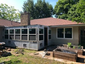 How to install exterior windows for a diy sunroom