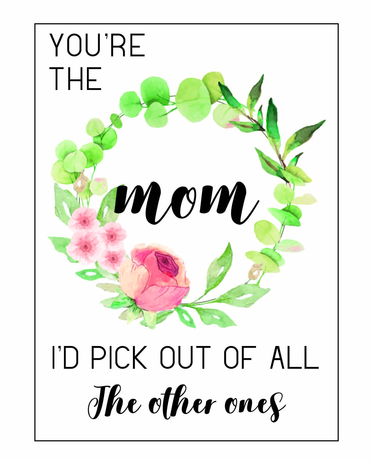 Free Printable Mother S Day Cards What To Say In A Mother S Day