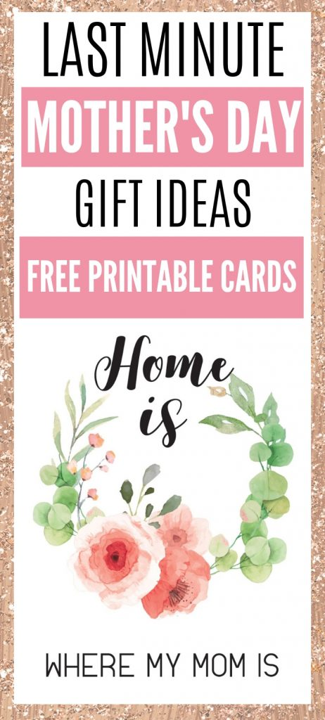 Home is where my mom is free printable card