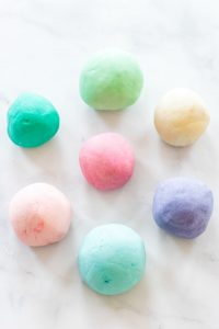 Playdough in ball shapes