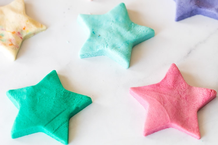 Edible playdough in shape of star