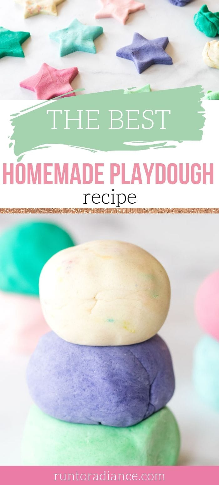 Edible homemade playdough recipe