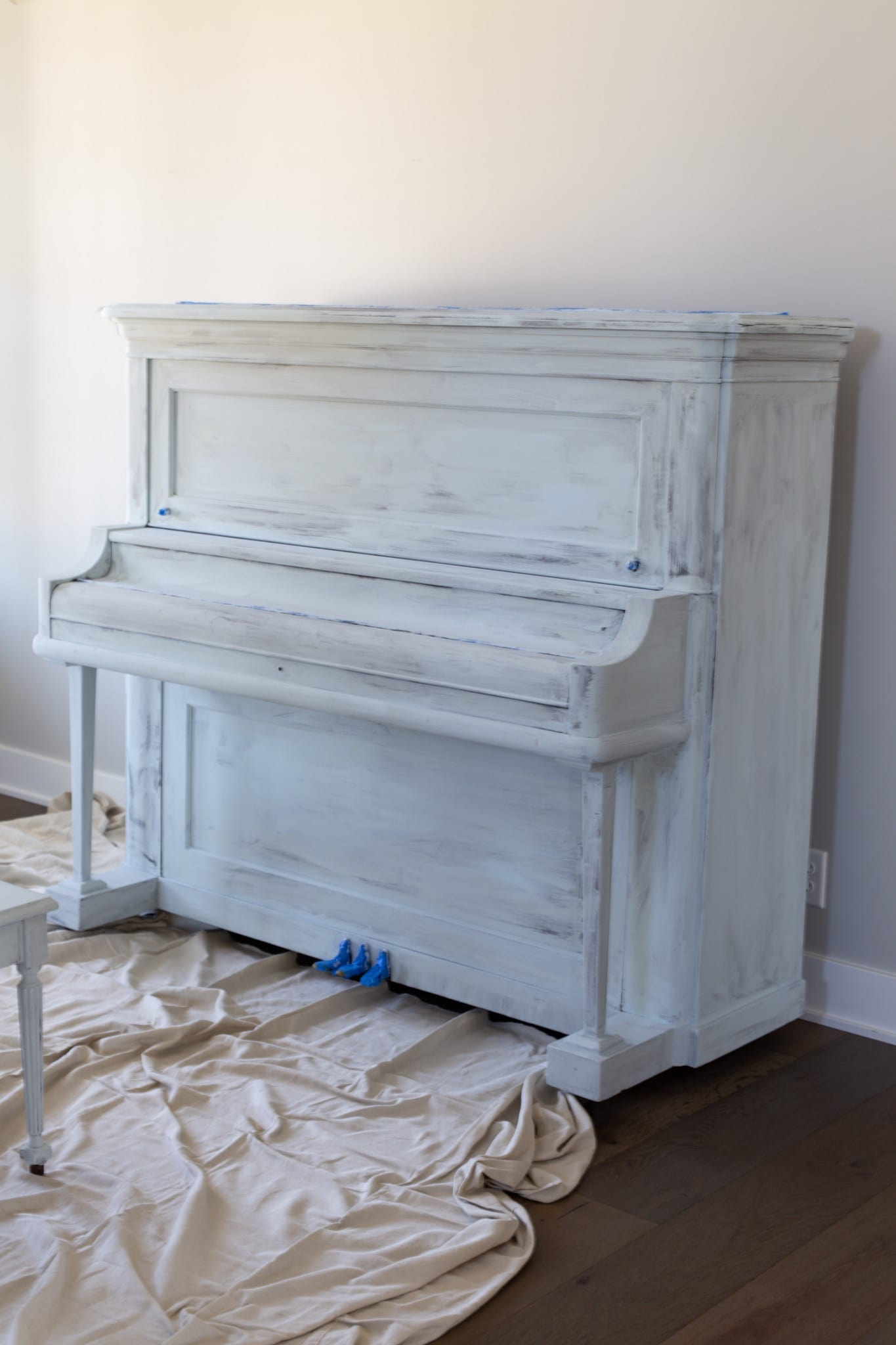 first coat of paint on piano