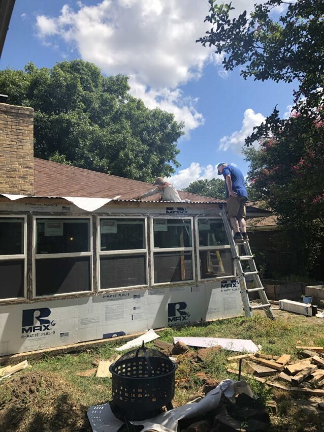 DIY project: converting a covered porch into a sunroom