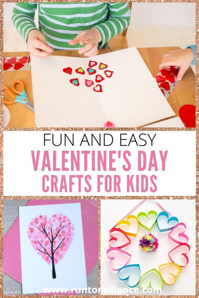 pinterest image for Valentine's Day Crafts For Kids