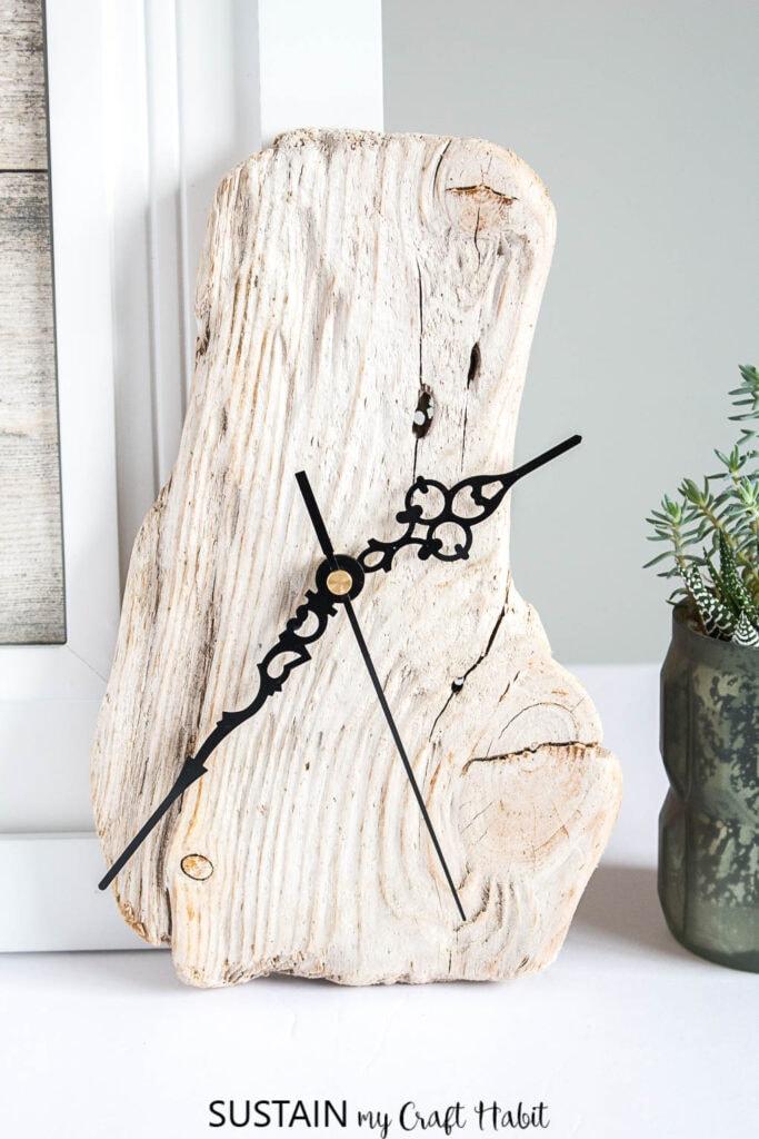 handmade driftwood clock