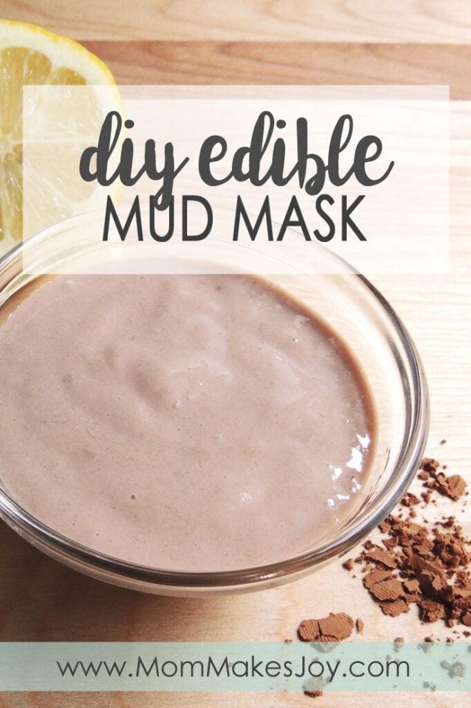 DIY edible mud mask made with cocoa, banana and honey.