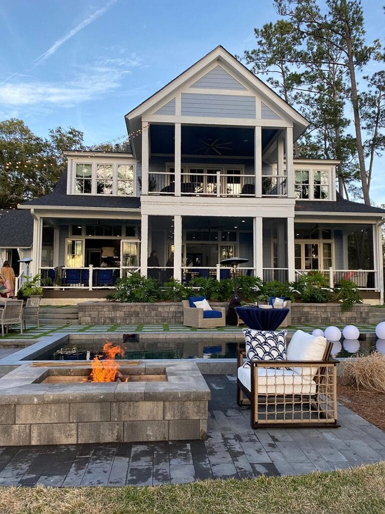 Belgard outdoor living space at the HGTV Dream Home 2020