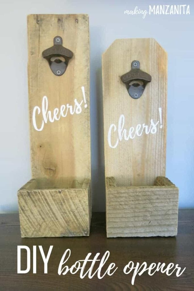 DIY Bottle opener boards as DIY Father's Day Gifts