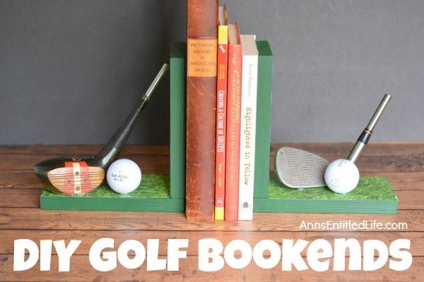 DIY Golf Bookends