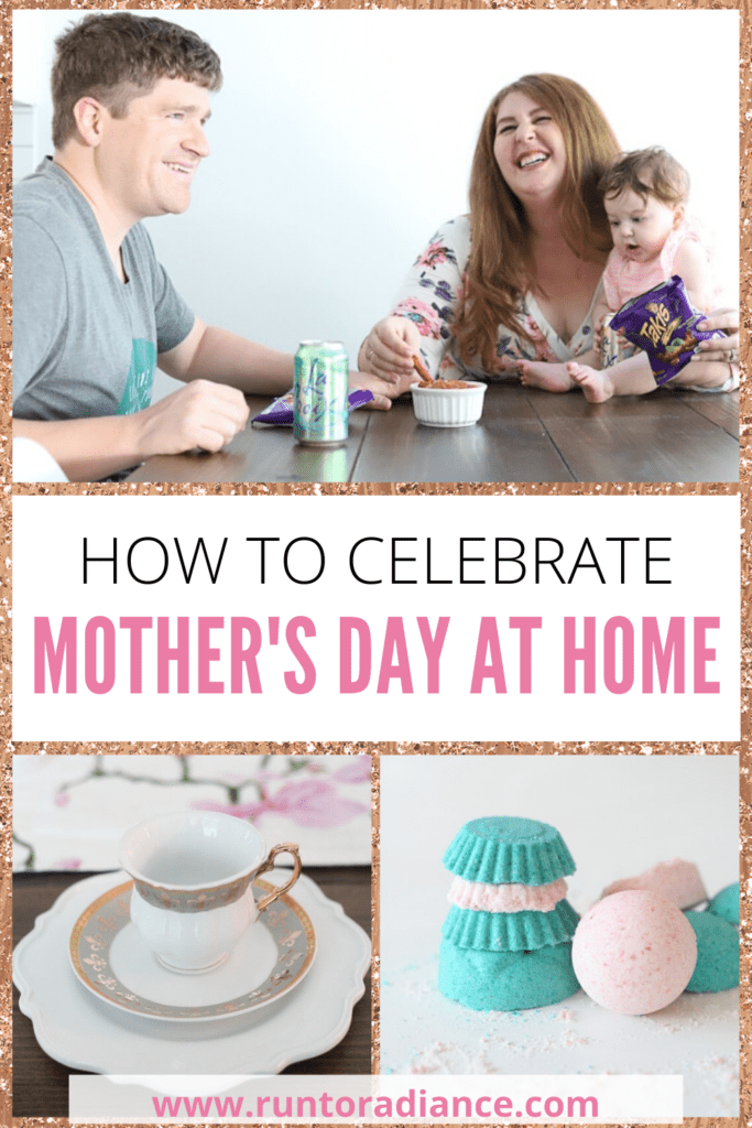 Pinterest graphic for how to celebrate mother's day at home