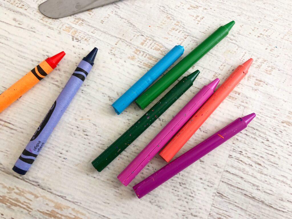 Peeled crayola crayons