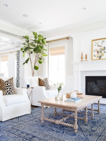 Living room painted with benjamin moore's simply white