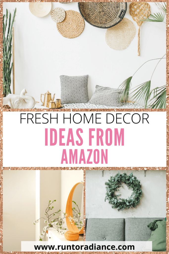 stylish spring decor pieces purchased from Amazon