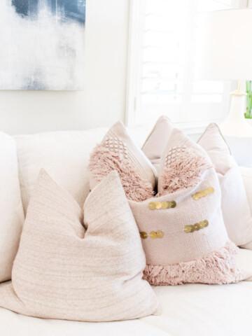 Target pink pillows