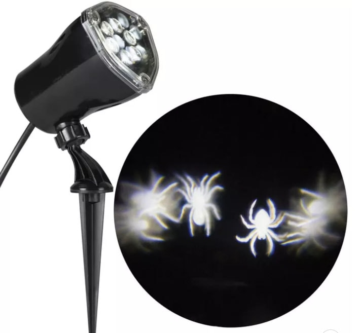 Light projector that projects spiders