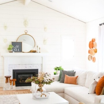Living room setting with fall decor